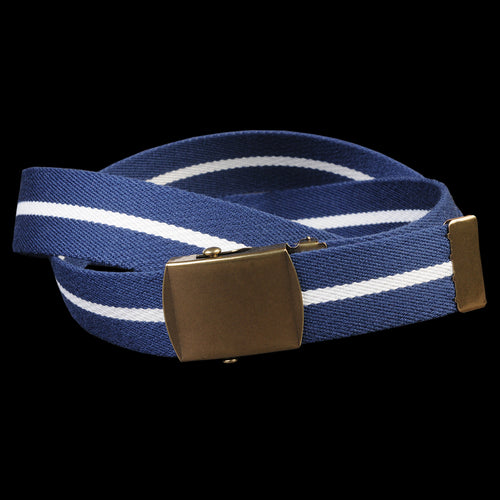 Striped Web Belt in Navy & White