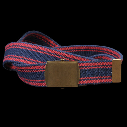 Striped Web Belt in Navy & Red