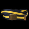 Alex Mill - Striped Web Belt in Navy & Yellow