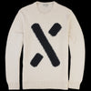 Alex Mill - The X Crewneck in Off White & Navy