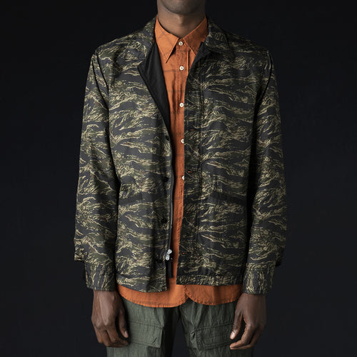 Reversible BDU Jacket in Black & Dark Tiger Camo