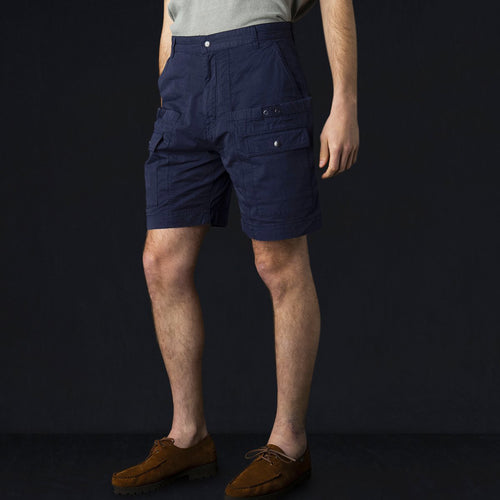 Wagon Short in Dyed Navy