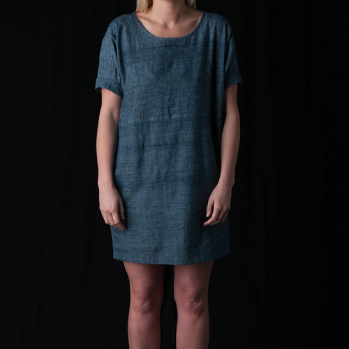 Katie Dress in Indigo Chambray