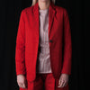 Grei. - Fine Twill One Button Carry-On Suit Jacket in Paprika