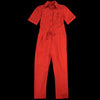 Grei. - Fine Twill Sack Pocket Shirting Jumpsuit in Paprika
