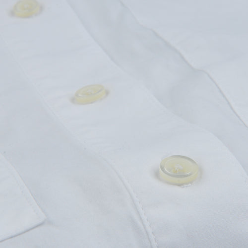 Poplin Two Pocket Box Shirt in White