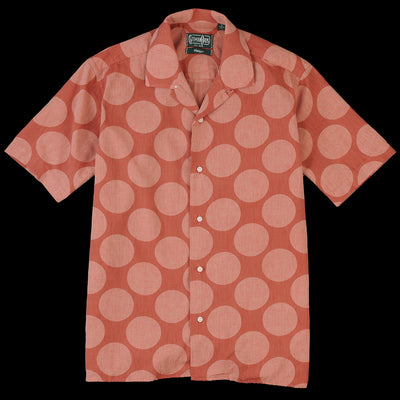 Gitman Vintage - Camp Shirt in Brick Dot