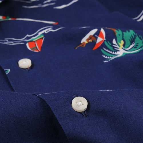 Camp Shirt in Surf & Turf Navy
