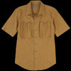 Grei. - Crinkle Short Sleeve Sack Pocket Shirt in Amber