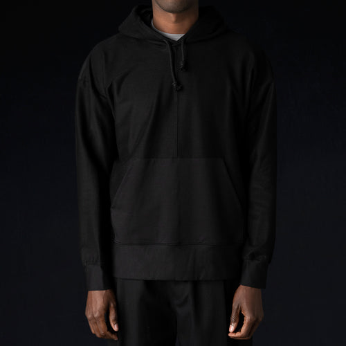 Ultra-Fine Terry The Big Hoodie in Black