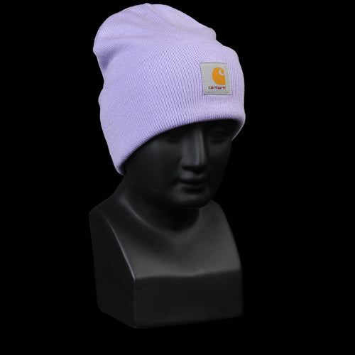 Acrylic Watch Hat in Soft Lavender
