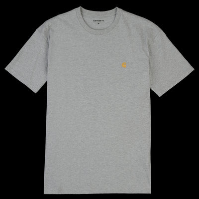 Carhartt WIP - Chase Tee in Grey Heather