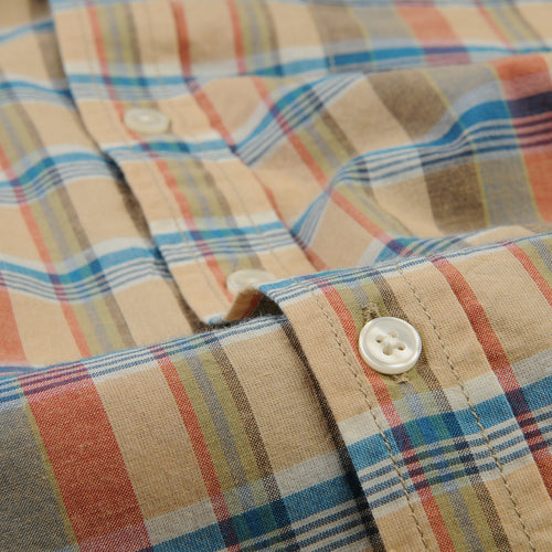 Vibrant Clay Madras Shirt in Beige
