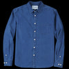 Corridor - Washed Pin Dot LS Shirt in Indigo