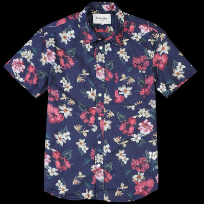 Corridor - Hawaiian SS Shirt in Navy