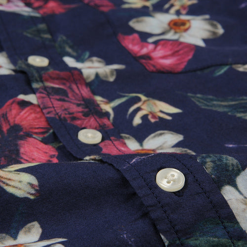 Hawaiian SS Shirt in Navy