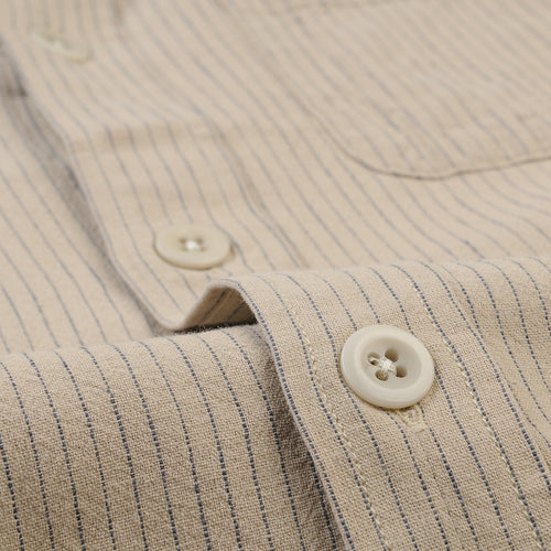 Stripe Linen Overshirt in Natural