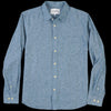 Corridor - Summer Linen Chambray LS Shirt in Blue