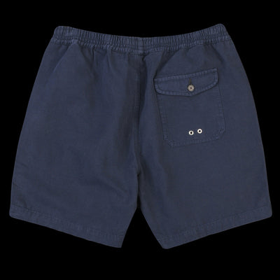 Universal Works - Beach Short in Navy Canvas