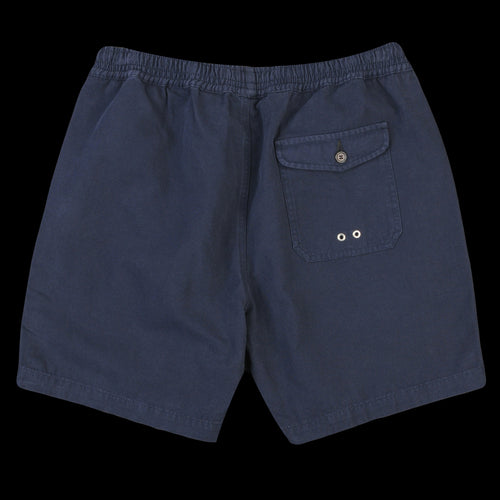 Beach Short in Navy Canvas