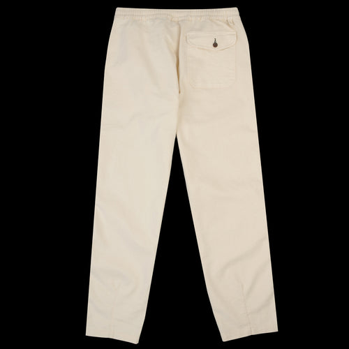 Track Trouser in Ecru Natural Twill