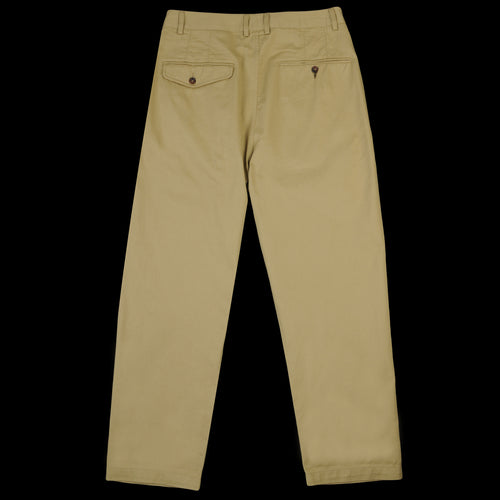 Double Pleat Pant in Sand Twill