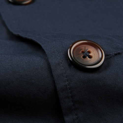 Warmus Jacket in Navy Poplin