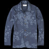 Universal Works - Bakers Jacket in Navy Flower Print Poplin