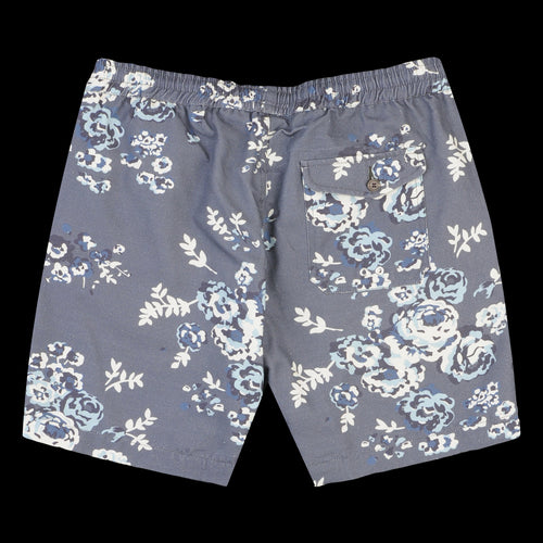 Beach Short in Flower Print Canvas