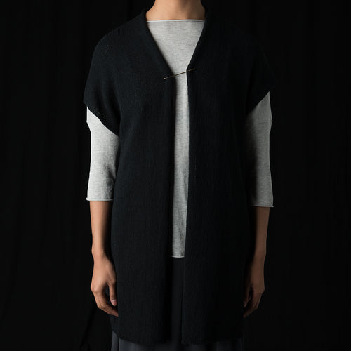 Cotton Coil Vest in Black