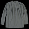 Evam Eva - Stand Collar Tuck Shirt in Grey