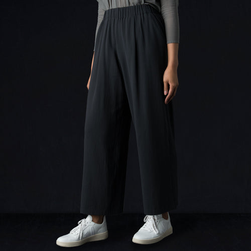 Cotton Double Gather Pant in North Sea