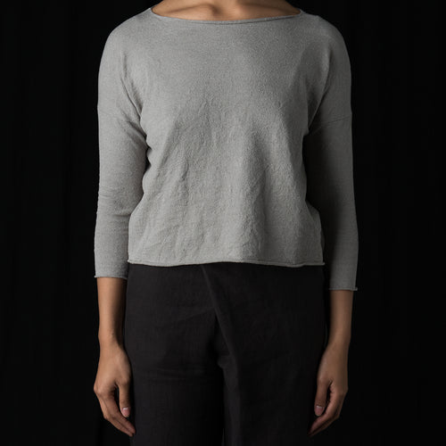 Double Covering Pullover in Grey