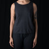 Evam Eva - Garment Dyed Linen Sleeveless in Sumi