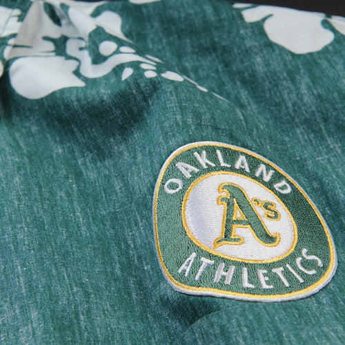 Oakland A's 50th State Classic Button Down Shirt in Green