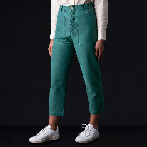 Howell Pant in Faded Green Twill