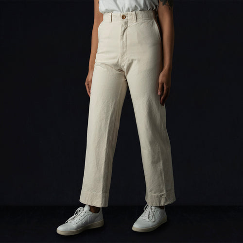 Greene Pant in Cream Canvas
