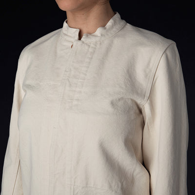 Caron Callahan - McGhie Shirt in Cream Duck Canvas