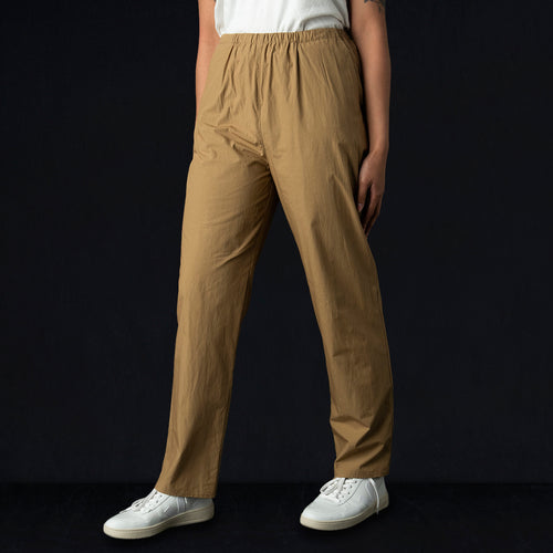 Cali Pant in Khaki Cotton Poplin