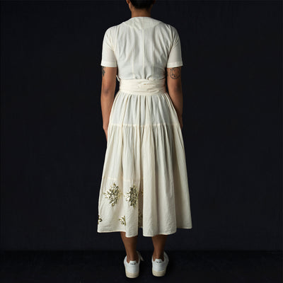 Caron Callahan - Luca Dress in Muslin Applique