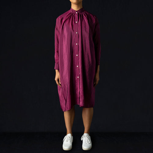 Aurora Dress in Magenta Cupro