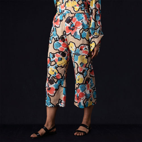 Lab Trouser in Painted Flower