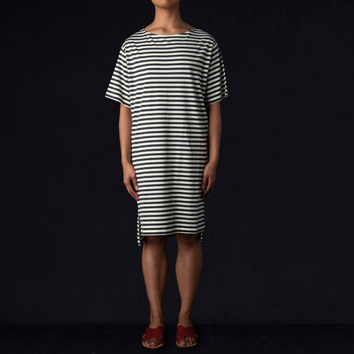 Tee Dress in Black Stripe