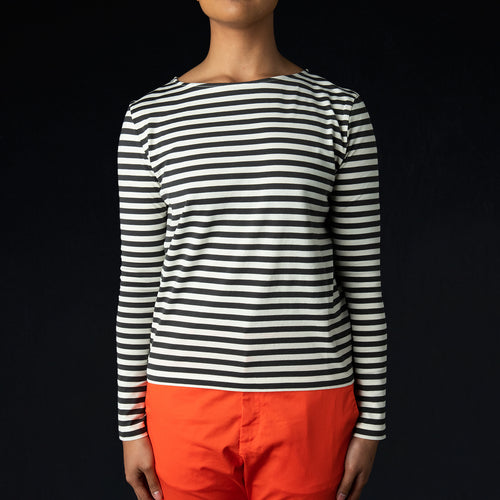 Sloop LS Tee in Black Stripe