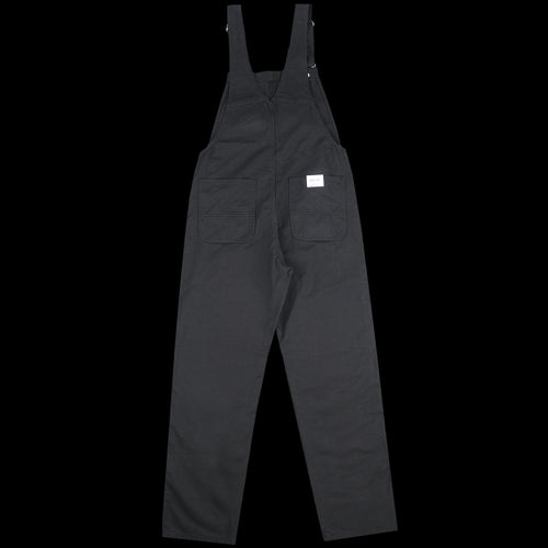 Bib Overall Straight in Black Drill