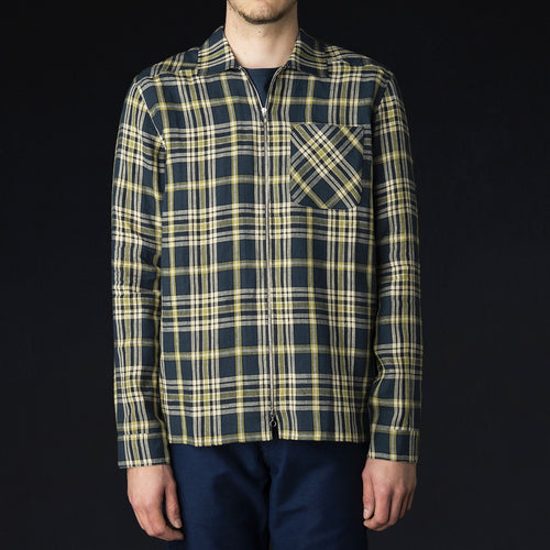 Delon Overshirt in Blue Check