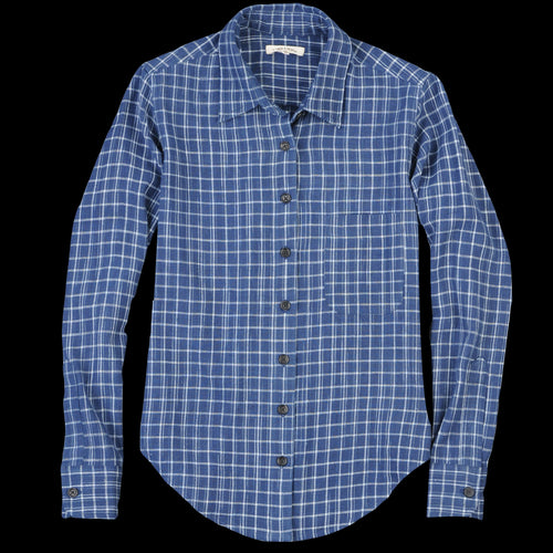 Rosalyn Shirt in Indigo Plaid