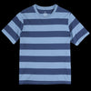 Save Khaki - Rugby Stripe Crew Tee in Blue