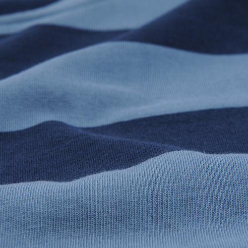 Rugby Stripe Crew Tee in Blue