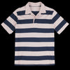 Save Khaki - Rugby Stripe Polo in Tea